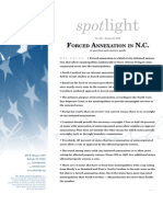 Forced Annexation in N.C.