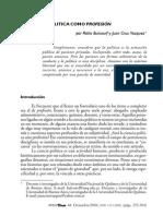 BULCOURF, Pablo y VÁZQUEZ, Juan Cruz. La Ciencia Política Como Profesión. en Revista Postd