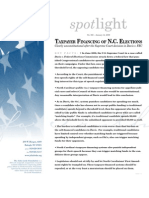 Taxpayer Financing of N.C. Elections