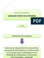 Analizar Textos No Literarios