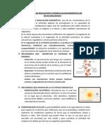 Mecanismos de Regulacion y Desregulacion Enzimatica en Microorganimos