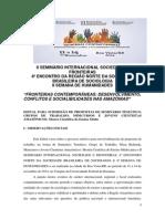 Edital II Seminario Internacional Sociedade e Fronteiras e 4 SBS NORTE Completo