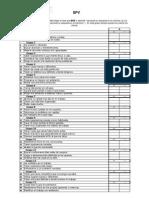 SPV - Cuestionario