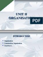 UNIT II organisation