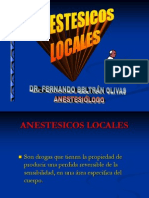 Farmacología de Anestesicos Locales en Odontología 2013