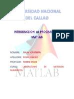 Introduccion Al Programa de Matlab