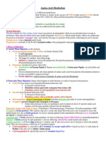 Amino Acid Metabolism Notes