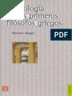 La Teología de Los Primeros Filósofos Griegos - Werner Jaeger