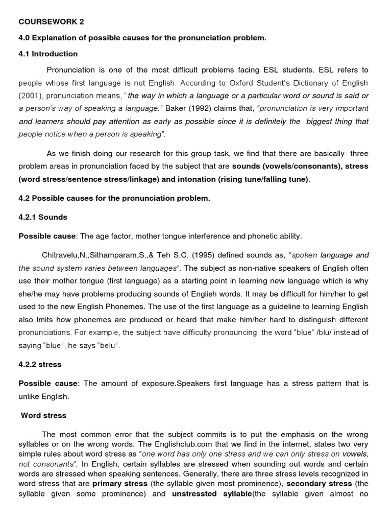 Phonetics of the English language. What prevents us from focusing on hearing 52