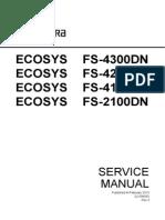 kyocera mita ecosys fs 1800 fs 1800n fs 3800 fs 3800n series combined laser printer service repair manual parts list
