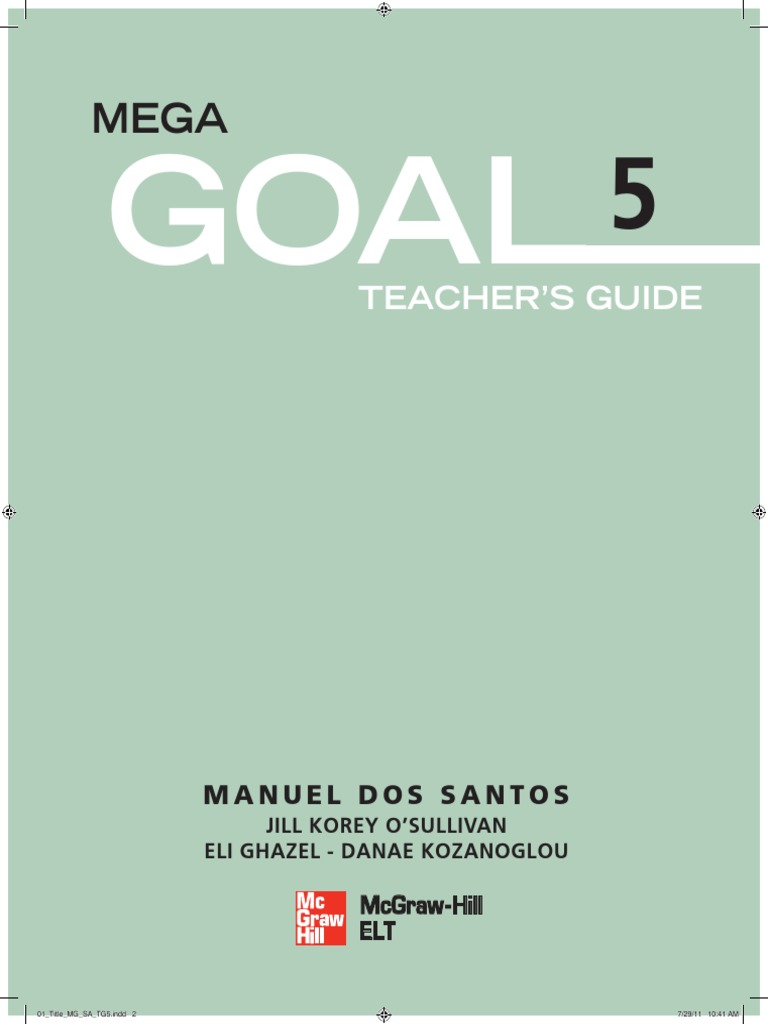 Mega goal 5 teacher guide reading process reading comprehension fandeluxe Choice Image