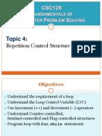 4) Repetition Control Structure (Part 1)