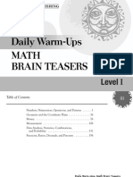 Brain Teasers - Dalily Warm-Ups - Level I
