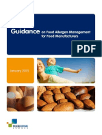 Guidance on Food Allergen Management