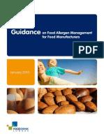 Guidance on Food Allergen Management