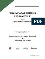 Bases Generales COMPETENCIA de Comic y Video 2014