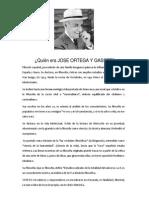 Quién Era Jose Ortega y Gasset