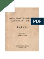 Bedia Tuncer - Akıl Hastalarının Yazdıkları Şiirler « İNİLTİ » (1964)