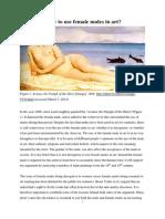 is it derogatory to use female nudes in art