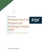 Windows Server 2012 Programa de Despliegue Rápido