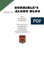 Dr Horrible's Singalong Blog
