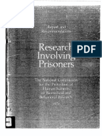 Research Involving Prisoners