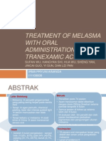 Treatment of Melasma With Oral Administration of Tranexamic