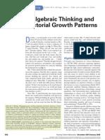 Algebraic Thinking Esther 2007