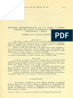 Estudios Distribucionales de La Flora y Fauna Costera de Caleta Cochlogue