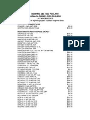 166 Lista De Precios Farmacia Monedas De America Del Norte