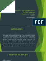 Caracterización Litogeoquímica Del Distrito Minero