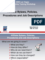 Affiliate Bylaws, Policies, Job Descriptions & Procedures
