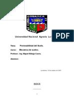 3er informe  permeabilidad