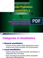 3877479 Lecture Presentation on Anasthetics