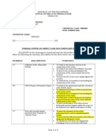 Formal Offer of Evidence-Prosecution