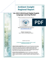 AmbientInsight 2013 2018 Brazil Digital English Language Learning Market Abstract
