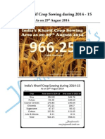 India's Kharif Crop Sowing During 2014-2015
