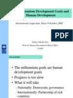 2311-MDGs Are Human Development Goals - Presentation
