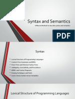 Syntax and Semantics - Methods