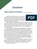 Albert Einstein - Viata Si Opera Lui Einstein