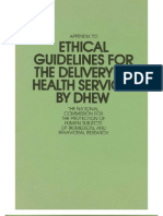 Appendix Ethical Guidelines