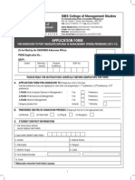 Admission Application Form