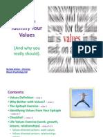 Bloom Psychology - Values Workbook (Summary)