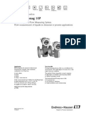 Promag 10P80 | Power Supply | Electromagnetic Induction