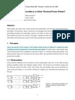 PV vs Solar Thermal Power Plant