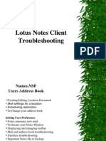 Ltusnotes client issues and solutions