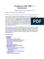 Error Handling in SQL 2000