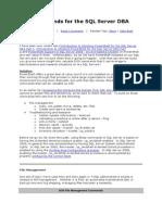 DOS Commands for the SQL Server DBA