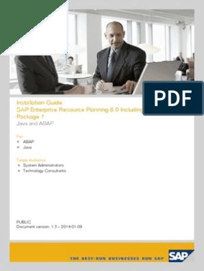 Install Guide Erp 6 0 Ehp7 Abap Java | Sap Se | Hypertext