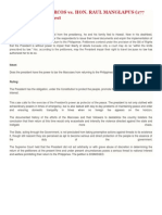 Ferdinand e. Marcos vs. Hon. Raul Manglapus (177 Scra 668) Case Digest